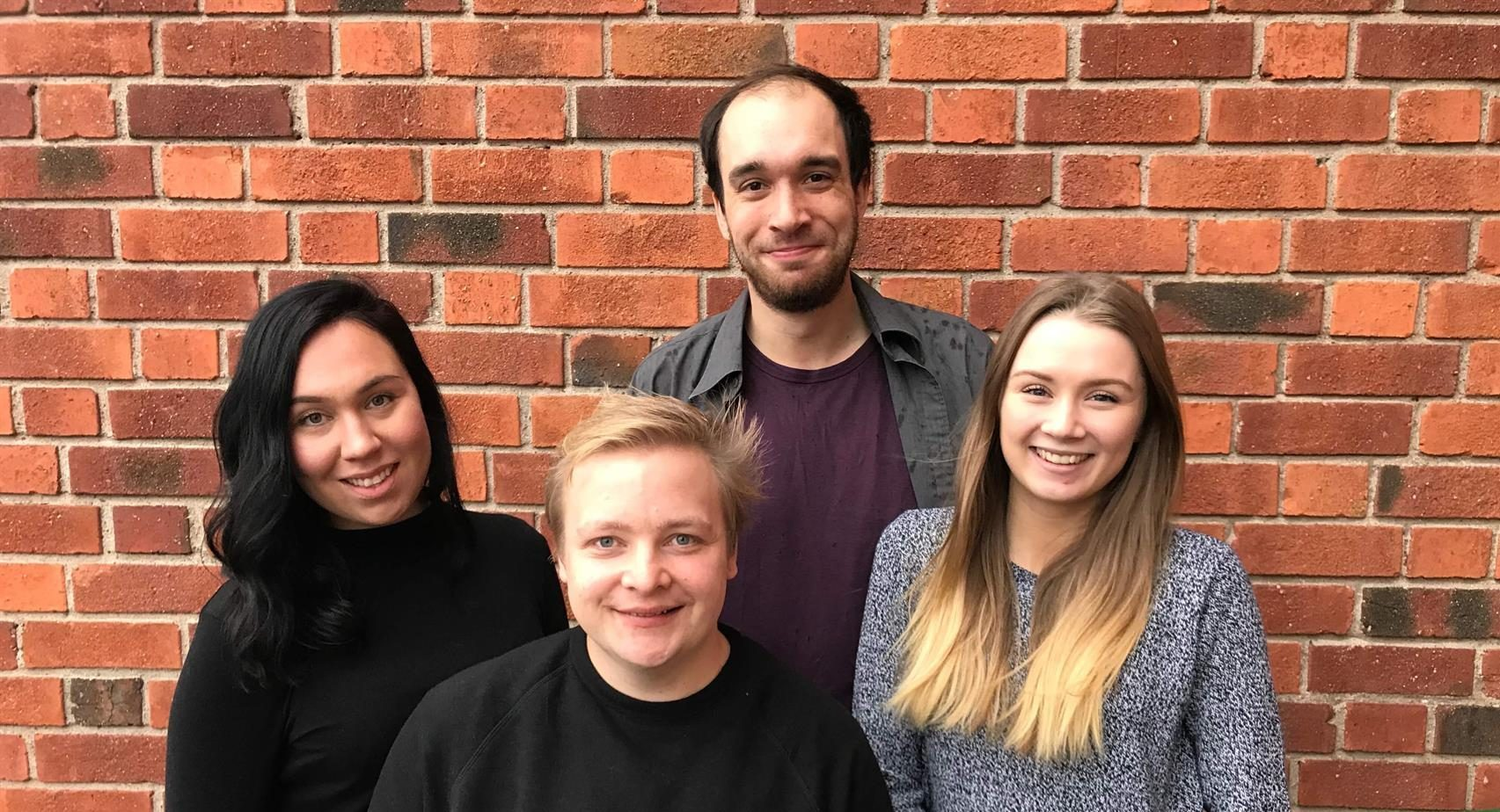 Elina Israelsson, David Forsberg, Jakob Granqvist och Emmy Midbjer